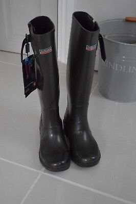 Town & Country  Festival Wellies Wellington Boots Chocolate Brown  Size 4 BNWT