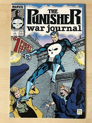 Marvel Comics PUNISHER WAR JOURNAL #1  and #2 VF/NM 1988 NETFLIX *RARE*