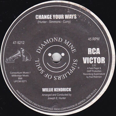 Northern Soul--WILLIE KENDRICK--Change Your Ways / TONY GALLA--In Love--