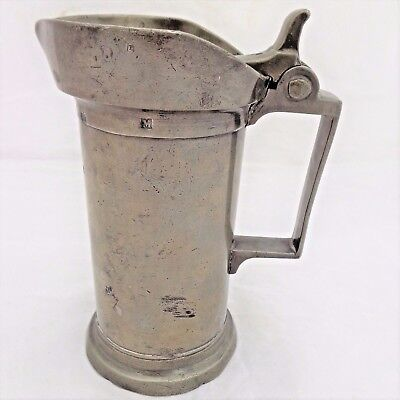 Antique Leclerc Humbert Lilles French Pewter Demilitre Measure Touchmarks 19th C