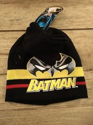 batman hat and gloves set. boys gift