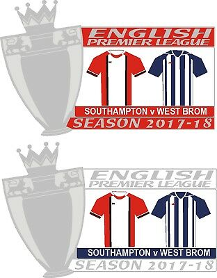 Southampton v West Brom  Matchday Pin badge 2017-18