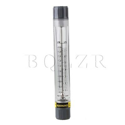 Acrylic LZM-15G 0.2-2GPM /1-8LPM Tube Type Liquid Water Measurement Flow Meter
