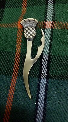 """Thistle Kilt Pin Antique Finish 4"""" Scottish Pins & Brooch Outfit Highland Wear"""