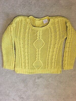 Little Girls Yellow Cable Jumper - Age 5 to 6 - Next
