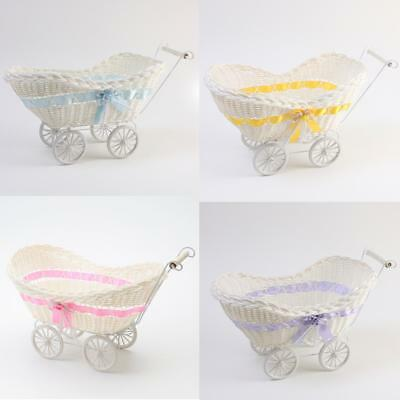 Wicker Hamper Pram Basket  Baby Shower Boy Or Girl Gifts