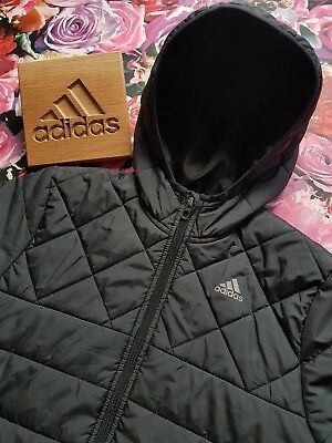 ⭐Genuine⭐ Boys Kids ADIDAS Quilted Bubble Coat Puffa Jacket Down Warm AGE 11 12