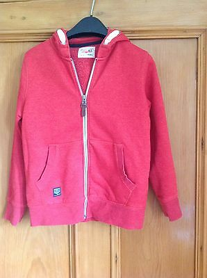 Boys Next Red Hoodie Age 9 Excellent Condition