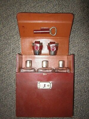 Post WWII Rumpp Travel Bar Case w/ Bottles Shot Glasses Made in Germany US Zone