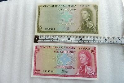 2 Banknotes From Malta  - Unused