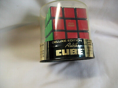 Rubik's Cube Deluxe Edition New Ideal Toy Co 1980 Gold Logo In Red Square