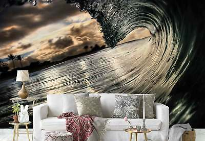 Wave Swirl Water Perspective Photo Wallpaper Wall Mural (1X-52584)