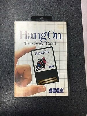 Hang On The Sega Card - Extremely Rare - Complete - Case Game and Manual CIB