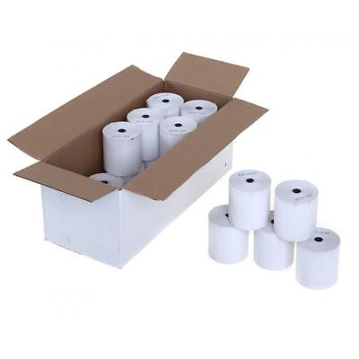 57x37mm Thermal Paper Credit Card Streamline PDQ Machine Till Rolls plain x20