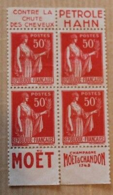 Timbres France Coins Dates 50C Paix X4 Neufs
