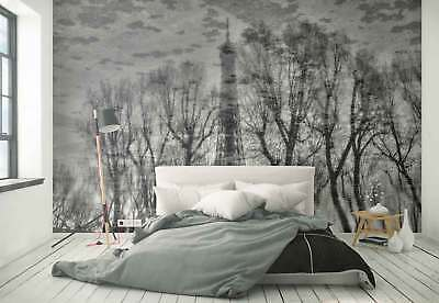 Eiffel Tower Puddle Reflection Photo Wallpaper Wall Mural (1X-1040656)