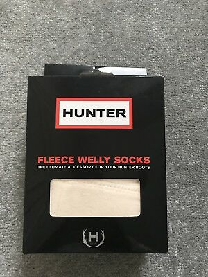 Hunter Kids Wellies Socks UK 7-9 XXS Cream