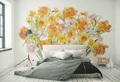Spring Flowers Daffodils Photo Wallpaper Wall Mural (1X-1298670)
