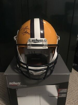 stevan ridley autographed LSU Full Size Replica Helmet With Authentication
