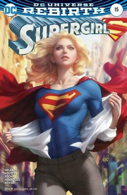SUPERGIRL #15 NM Variant Stanley Artgerm Lau DC Rebirth Presell BOXED SHIPPING