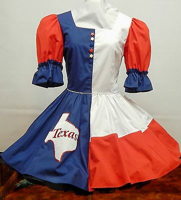 Red-White-Blue Texas Square Dance Dress