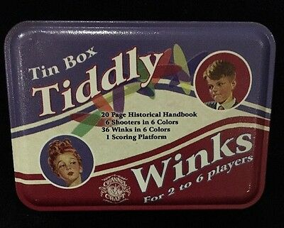 Tin Box Tiddly Winks - Channel Craft. Made In USA Commemorative