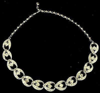 Vintage Sarah Cov Crystal Necklace, Signed