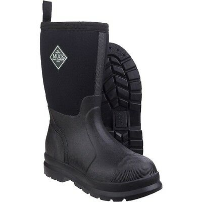 Black Kids Childs Unisex Chore  Muck Boots Wellies Jr 9 EU 27