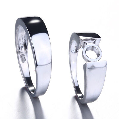 Couples Ring!7mm Round Sterling Silver 925 Engagement Wedding Polish Band Ring