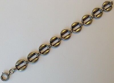 Vintage Art Deco Sterling Silver Loop Bracelet