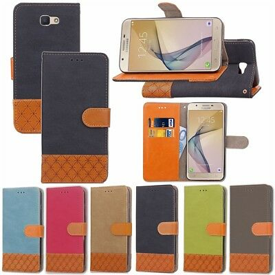 Coque Etui Housse Portefeuille Luxe Tissu Cuir Neuf Samsung S6 S7 S8 A5 J3 New