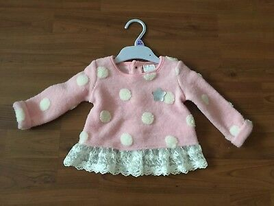 Baby 3-6 Months Girls Woolly Top New with Tag