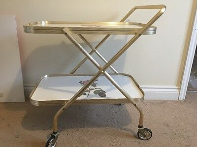 Vintage Tea Trolley With Flowers - 2660