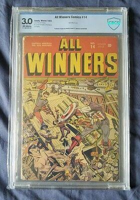 Golden Age All-Winners Comics #14 Winter 1944-1945 Marvel Captain America
