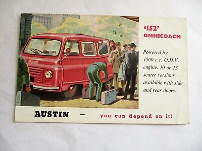 Austin 152 Omnicoach - Old Austin Motor Transport Advertising Postcard