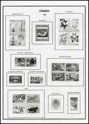 Z Harris Canada Stamp Album-B&W-New-1851-2016-2 Vol w/binders-Complete w/provs