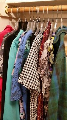 Lot of 15 Women's Plus Size Tops 1X, 2X, 3X PREowned, Thrift Shop Clearance