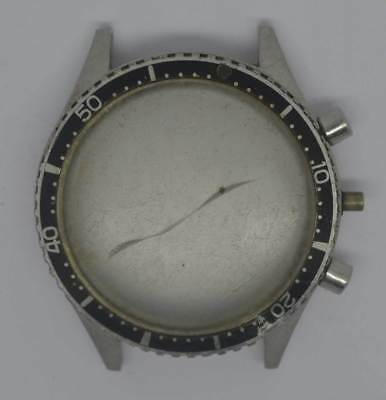 Vintage MISC SWISS St Steel Chronograph Case. For Parts.