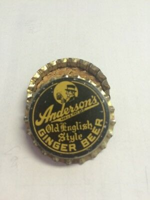 Anderson's Old English Style Ginger Beer Soda Bottle Cap-Nos Cork Lined•look•