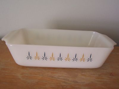 Vintage #441 Anchor Hocking Fire King Candle Glow Loaf/bread Pan