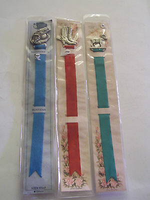Lot Of 3 Lindsay Claire Pewter Bookmarks - Baseball Glove, Cowboy Boots, Elk