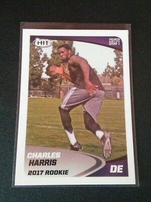 Charles Harris Dolphins RC Rookie #91 Sage Hit 2017 Trading Card NFL Football