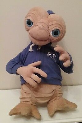 Universal Et Plush Soft Toy In Blue Hoodie E.t Extra Terrestrial