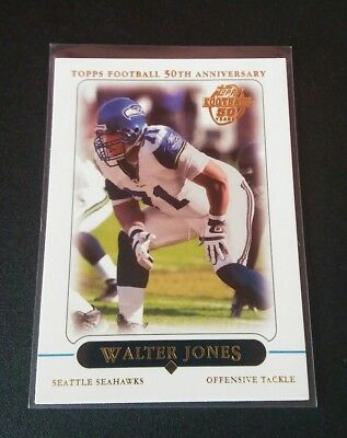 Walter Jones Seahawks 50 Years #46 Topps 2005 NFL Football Trading Card