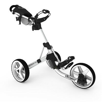 Clicgear Model 3.5+ Golf Trolley Pull/Push 3 Wheeled Cart In White Brand New
