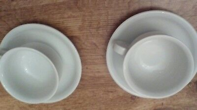 Cup and Saucer Set  x 2 - Thomas Trend White Porcelain China