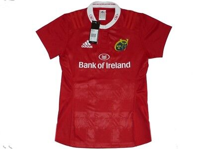 Adidas Munster Home Tee Womens Fit Size.M  (UK-14) . Jersey.  Rugby Ireland.
