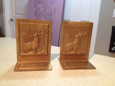 Hartford Fire Insurance Metal Book Ends Rare 125th Anniversary Collectible 1935