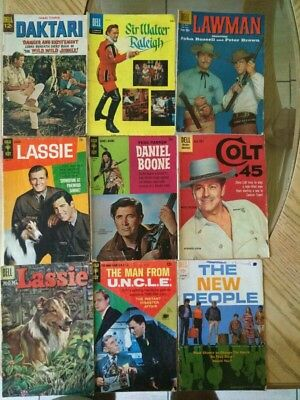 Vintage Mix lot of TV shows comics books,Gold Key,Dell,from the 60's!!!!!