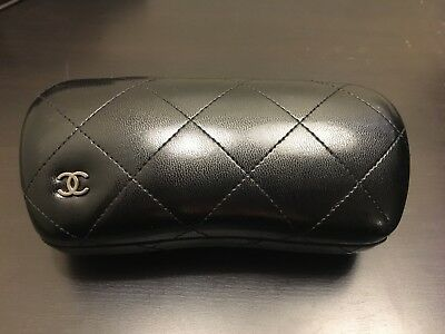 Chanel Black Shiny Quilted Sunglasses Case Large - NWOT